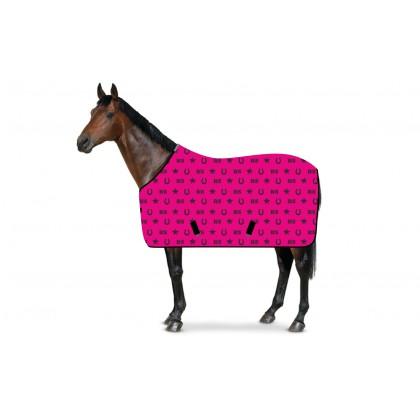 SweatStar Abschwitzdecke RS-Hufeisen pink-schwarz